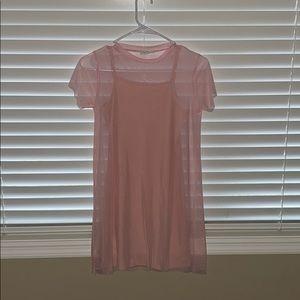 Light pink full tilt dress